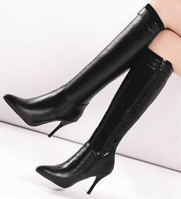 AS0142 40-43碼 韓系 細高跟 瘦腿靴 過膝靴 長靴 長筒靴 馬靴  靴子 女靴 女鞋 大碼 女鞋 大尺碼女鞋