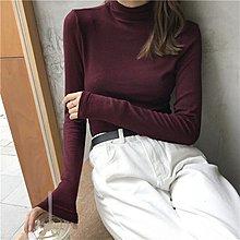 打底衫秋裝女2018新款純色親膚舒適高領長袖內搭上衣韓版氣質T恤