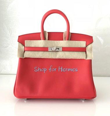 Brand New Hermes Birkin 25cm 番茄紅 S5 Rouge Tomate 25 銀扣 Swift 皮