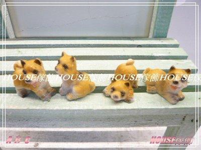~台南佳里~︵House傢飾館︵~仿真仙人掌多肉植物 苔蘚微景觀 小狗擺飾 4個一組  ~~ 款 新發售~~