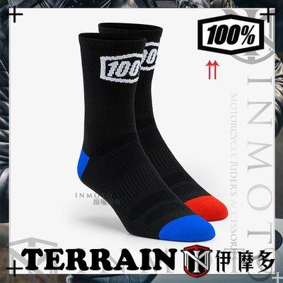 伊摩多※美國RIDE 100% 運動襪 小腿下襪 騎士 重機 車靴 越野 TERRAIN 24003-001 黑