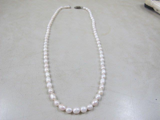 二手舖 NO.2768 天然珍珠項鍊  首飾飾品