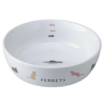 MARUKAN 犬貓貂兔鼠 彩繪陶瓷食盆 小動物碗碟 寵物食皿 飲水器 給水盆 ES-18(φ13.5公分)每件259元