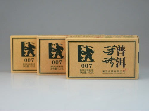 K㊣軒凌茶苑㊣-B407-瀾滄古茶2013年007小磚-生茶-100克-低價