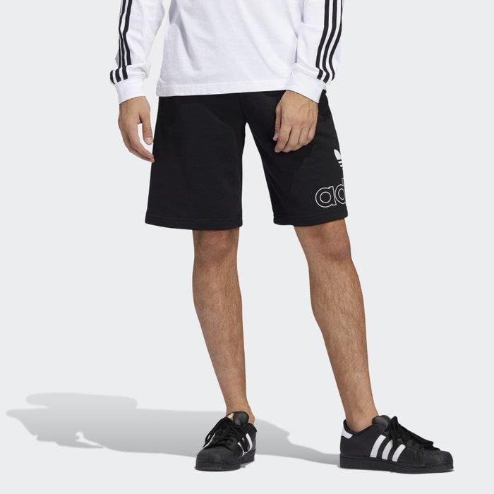 南 2020 6月 Adidas PRE-GAME SHORTS FM1514 黑 白 LOGO三葉草 運動 休閒短褲