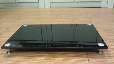 展藝專業音響架 8mm黑色強化玻璃 強化型鋁柱 單一層1500元 捷運快通車咯促銷囉!