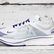 D-BOX  Nike Lab Zoom Fly SP 編織 高彈力 柔韌性強 白寶藍 女鞋 運動鞋