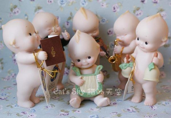 《Cat Sky》日本Kewpie音樂系列.小豎琴陶瓷Q比娃娃/聖誕禮物/可愛擺飾