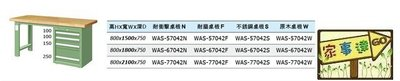 [家事達]台灣 TANKO-WAS-67042W 單櫃型重量型工作桌-原木桌板 特價
