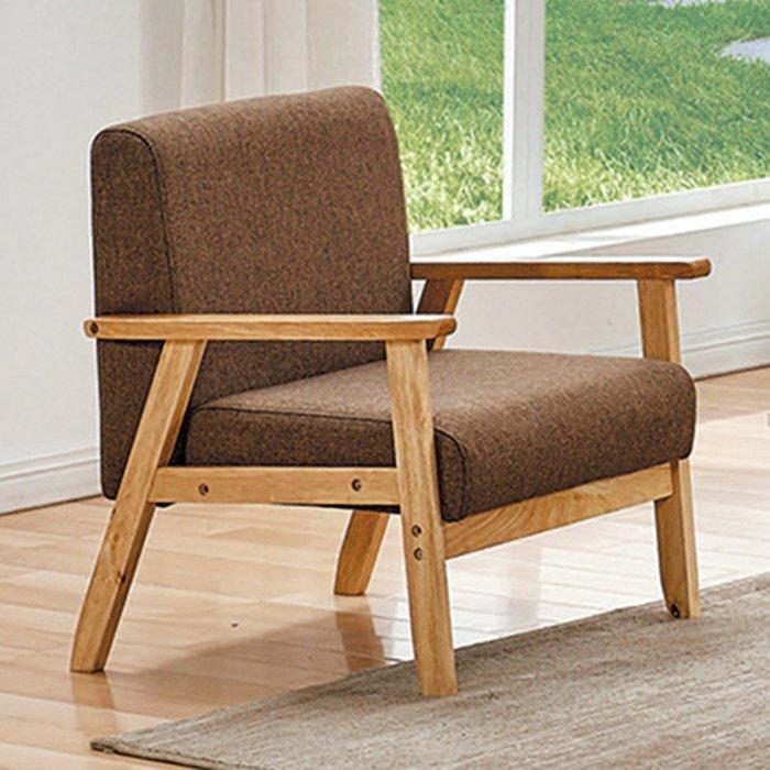 【在地人傢俱】19 樂樂購-SF1-1咖啡色布1人/一人/單人沙發椅 JL97-5