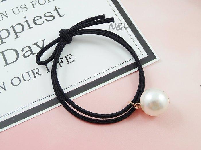 氣質珍珠高彈力髮圈髮飾髮繩髪束髮帶☆【N&Y】HA07