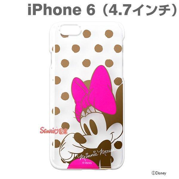 """《東京家族》""""特價出清""""正版迪士尼 米妮 點點 iphone 6 透明硬式4.7吋 手機殼 保護殼"""