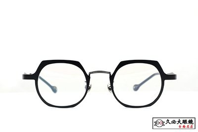 【台南久必大眼鏡】Kaffeine 咖啡因 韓國超人氣 潮流時尚穿搭 宋智孝少女時代明星款光學眼鏡 KKNo.6(黑)
