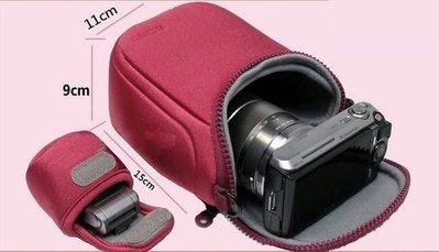 全新現貨@幸運草@Sony 索尼 LCS-BBF微單包 附贈小型電池袋 附背帶 適用NEX微單機種 相機包