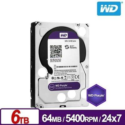 【易霖-內接式硬碟】WD60PURZ 紫標 6TB 3.5吋監控系統硬碟