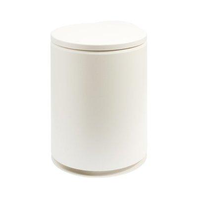 【TRENY直營】TRENY 日式圓形垃圾桶-白 按壓掀蓋 掀蓋垃圾桶 隱藏垃圾袋 簡約風 BY-6500-W