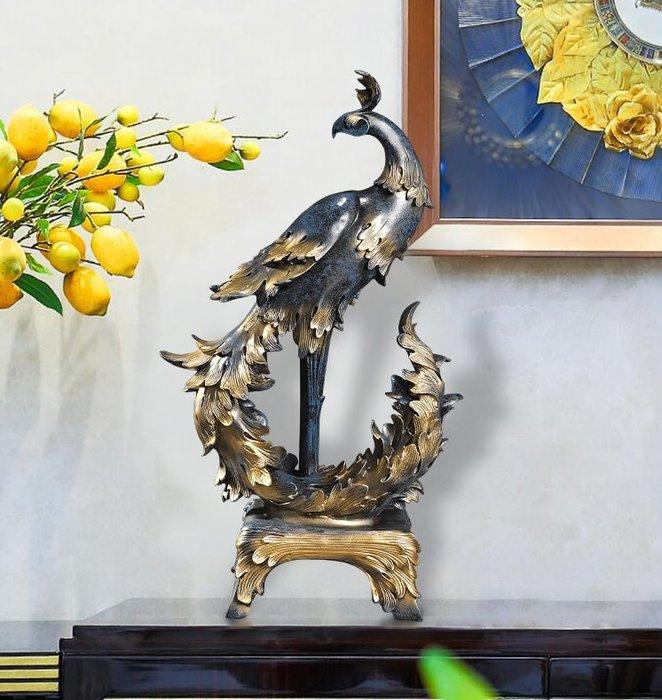 ~Linda~結婚送禮孔雀擺件百鳥朝鳳家居裝飾酒櫃客廳房間創意精緻工藝品
