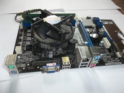華擎, ASROCK, H61M-VG4主機板, , 1155, 含CPU, D3-2G記憶體, 檔版, 整套 台南市
