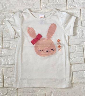 全新 Gymboree 可愛大頭兔 短袖上衣、尺寸:4T