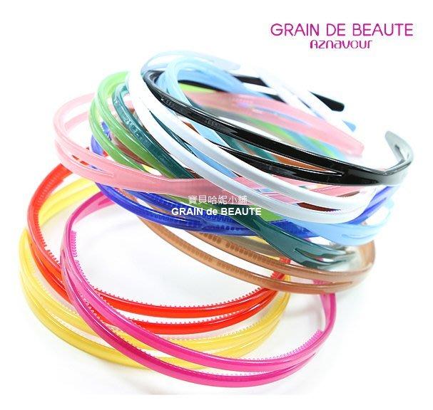 BHJ603-法國品牌Grain de Beaute 糖果色簡約髮圈 髮箍【韓國製】Aznavour