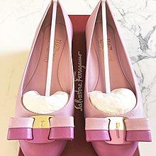 SALVATORE FERRAGAMO PINK FLATS 粉紅雙色 蝴蝶結 平底鞋 roger vivier jimmy choo