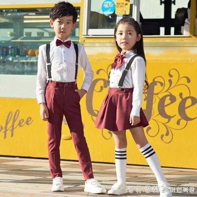 六一男童女童表演背帶褲兒童禮服小學生校服幼兒園大合唱演出服裝