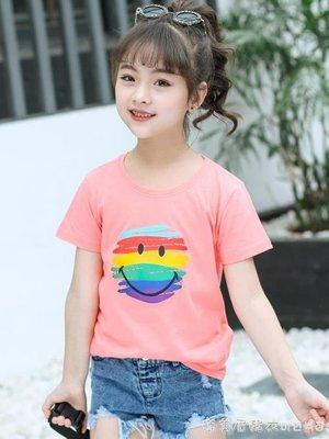 童裝女童短袖T恤2019新款夏裝女孩體恤寶寶純棉打底衫兒童上衣潮