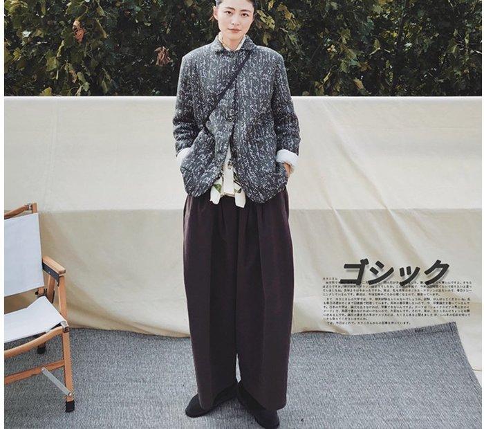 【鈷藍家】日雜風原創暗黑PH家風格棉衣冬季加厚外套女設計感小眾短款棉服修身顯瘦