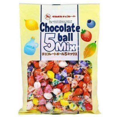 +東瀛go+ 日本進口 高岡製果 5種水果巧克力球-檸檬/藍莓/草莓/牛奶/白巧克力-155g 過年 拜拜 零食 糖果