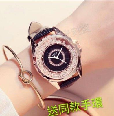 KEZZI珂紫 時尚滾動碎鑽手錶