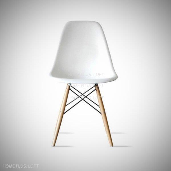 【拓家工業風家具】白色~DSW北歐瑞士餐椅Eames Chair伊姆斯餐椅復刻版/楓木椅/北歐簡約風/椅子
