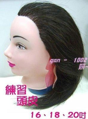 16吋美髮沙龍學生丙乙級練習頭皮  假人頭/冠軍頭/比賽頭 頭殼