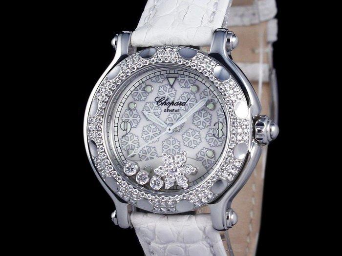 【公信精品】蕭邦 (CHOPARD) 中雪花系列 32mm 278949-3001 石英機芯 精鑲鑽圈 原廠盒子 保單