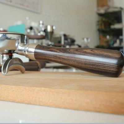 義式咖啡機 咖啡機把手 手柄螺紋M12 M10 黑檀 黃金檀 改裝木柄 expobar bezzera拉霸機 gs3 台南市