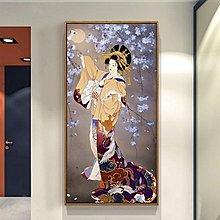 日式餐廳掛畫浮世繪仕女圖有框畫唯美日本風格客廳裝飾畫玄關壁畫(多款可選)