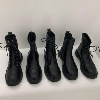 小跑牛鞋馬丁靴女英倫風2021年新款春秋單靴復古厚底切爾西機車靴子女短靴