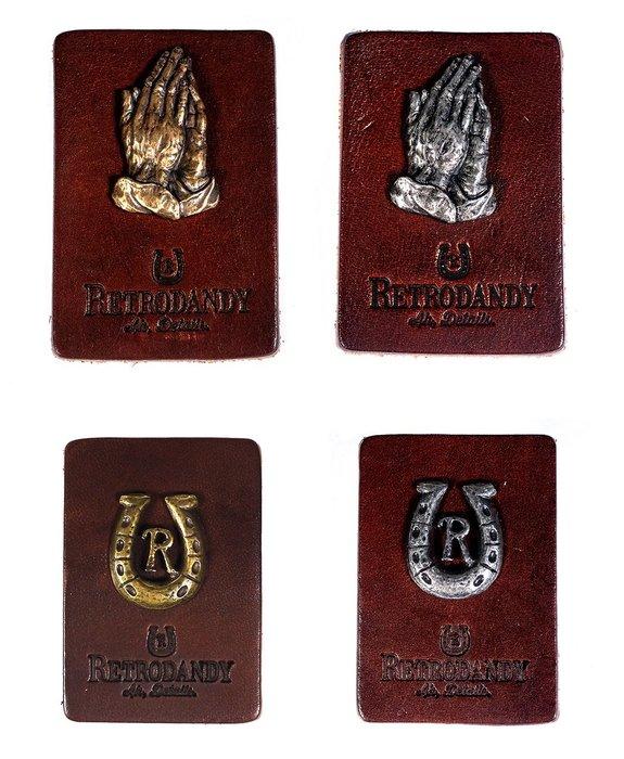 { POISON } RETRODANDY PRAYING & RD PIN-S 祈禱手 馬蹄鐵 雕刻徽章