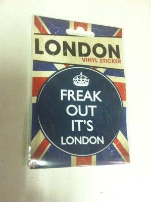 全新英國進口搖滾貼紙 Freak out it's london