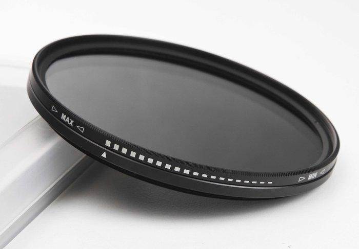 呈現攝影-可調式ND減光鏡 82mm減光鏡 可調式減光鏡 ND2-ND400 減光約9格 82mm口徑