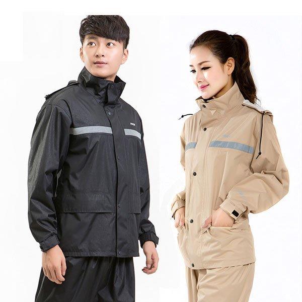 5Cgo【鴿樓】會員有優惠 42502958245 成人分體電動車 摩托車機車雨衣套裝單人男女騎行雨衣雨褲套裝