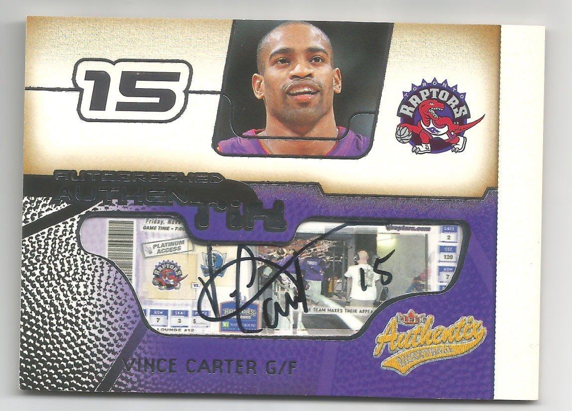 【MBC】Vince Carter 2001-2002 Fleer Authentix TIX-AUTO 暴龍球票簽名卡
