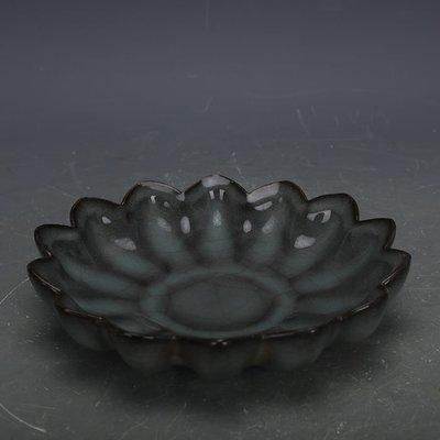 ㊣姥姥的寶藏㊣ 宋代官窯青釉鐵胎葵花洗碟子  出土古瓷器手工瓷古玩收藏擺件