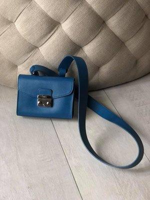 5ff03408e0d7 【義大利製】FURLA湛藍色時尚單肩側背包/ 腰包/