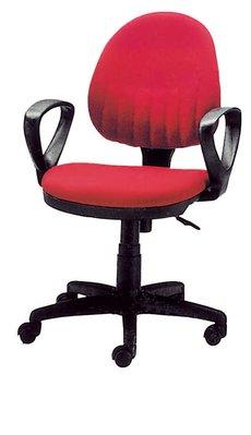 【南洋風休閒傢俱】辦公家具系列-紅布氣壓有手辦公椅 辦公書桌椅 (金633-7)