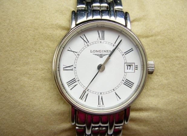 [吉宏精品交流中心]LONGINES 浪琴 不鏽鋼 白面 圓形 石英 女錶