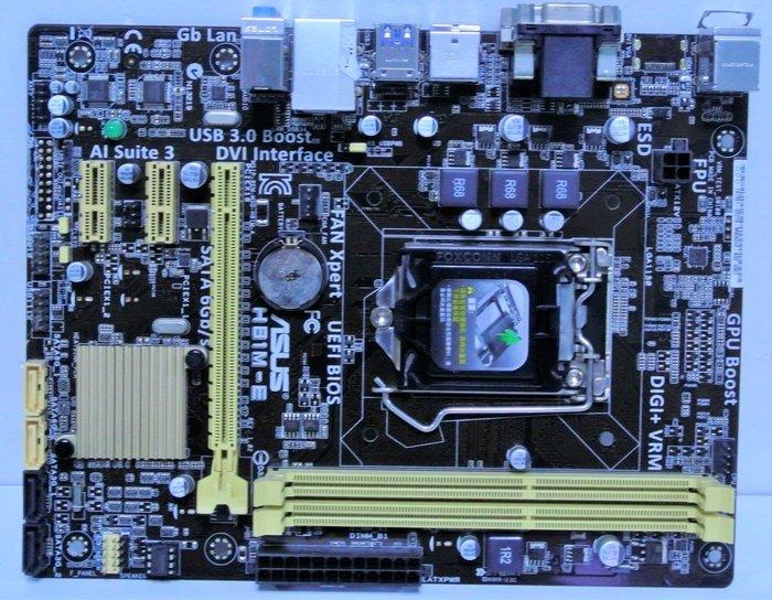 ~ 駿朋電腦 ~ 華碩 H81M-E / 1150主機板 / DDR3 / USB3.0 / 顯示 $600