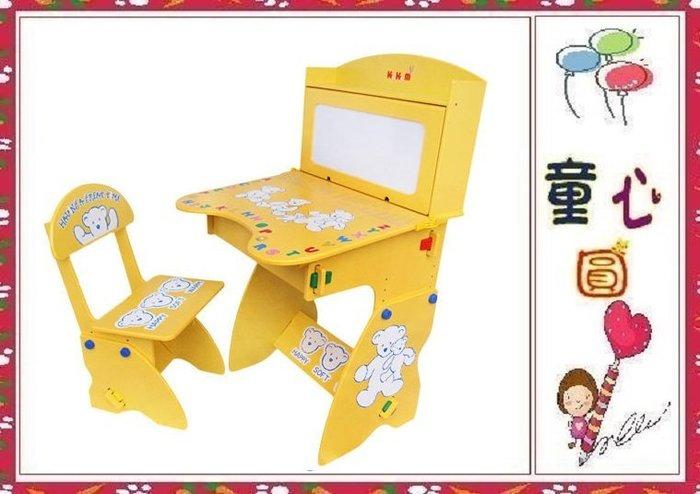【kikimmy】兒童升降成長學習桌椅組~兒童成長書桌~鵝黃色◎童心玩具1館◎