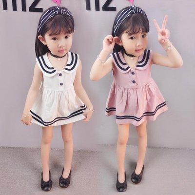 女童洋裝2018夏裝純棉背心裙女孩裙子兒童無袖寶寶5公主裙3-4歲 韓語空間