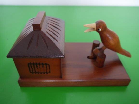 小鳥夾菸盒(日本木作細工)