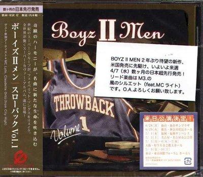 (甲上唱片) Boyz II Men - Throwback Vol.1 - 日盤